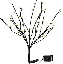 PBK Floral Decor Stem - Lighted Twig Branch Black Glitter - $27.95