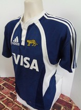 Visa Adidas Blue Soccer Shirt Jersey Size US Large L Leopard World Cup o - $24.49