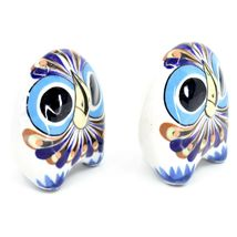 Ceramic Painted Owl Salt & Pepper Shaker Set Shakers Handmade in Guatemala image 5