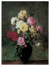 "16x20""Poster on Canvas.Home Room Interior design.Flower bouquet vase.6494 - $46.75"