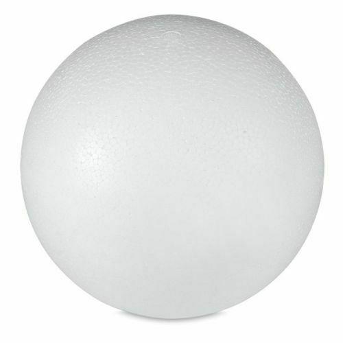 """24pk Round 5"""" Styrofoam Balls Polystyrene Sphere White Styro Foam Art Craft LOT"""