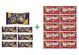 M&M's Dark Chocolate Peanut Chocolate Candies 12.6 OZ (Pack of 7) + (10 ... - $64.20