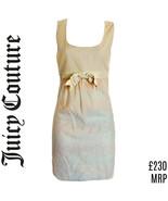 Dress Mini Juicy Couture Pink Bow Minidress Ivory Pastel Designer Size XXS - $42.71