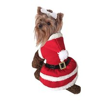 NACOCO Pet Christmas Coat Dog Cat Santa Suit Skirts Dog Costumes (Small) - $11.87