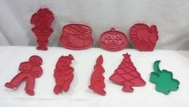 Tupperware Plastic Cookie Cutters Lot 9 Vtg Pig Birthday Cake Turkey Pum... - $14.01