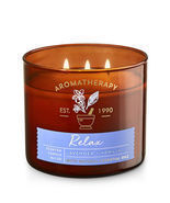 Bath & Body Works RELAX - LAVENDER & VANILLA 3-Wick Candle 14.5 oz / 411 g  - $39.00