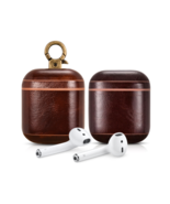Apple AirPods 1 & 2 Case Premium Leather Luxury Dark Brown - $35.98