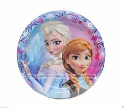DISNEY FROZEN 8pc Paper Set CAKE PLATES Party Supplies/Decoration ANNA+E... - £2.61 GBP