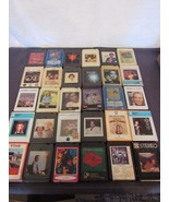 8-Track Lot Easy Listening 30 Tapes Neil Diamond Garfunkel Manilow Strei... - $24.84