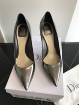 Christian Dior Pewter Pointy Pumps EU SZ 40 $695 - $144.28