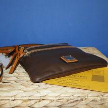 Dooney & Bourke Triple Zip Calf Leather Crossody NWT Brown image 5