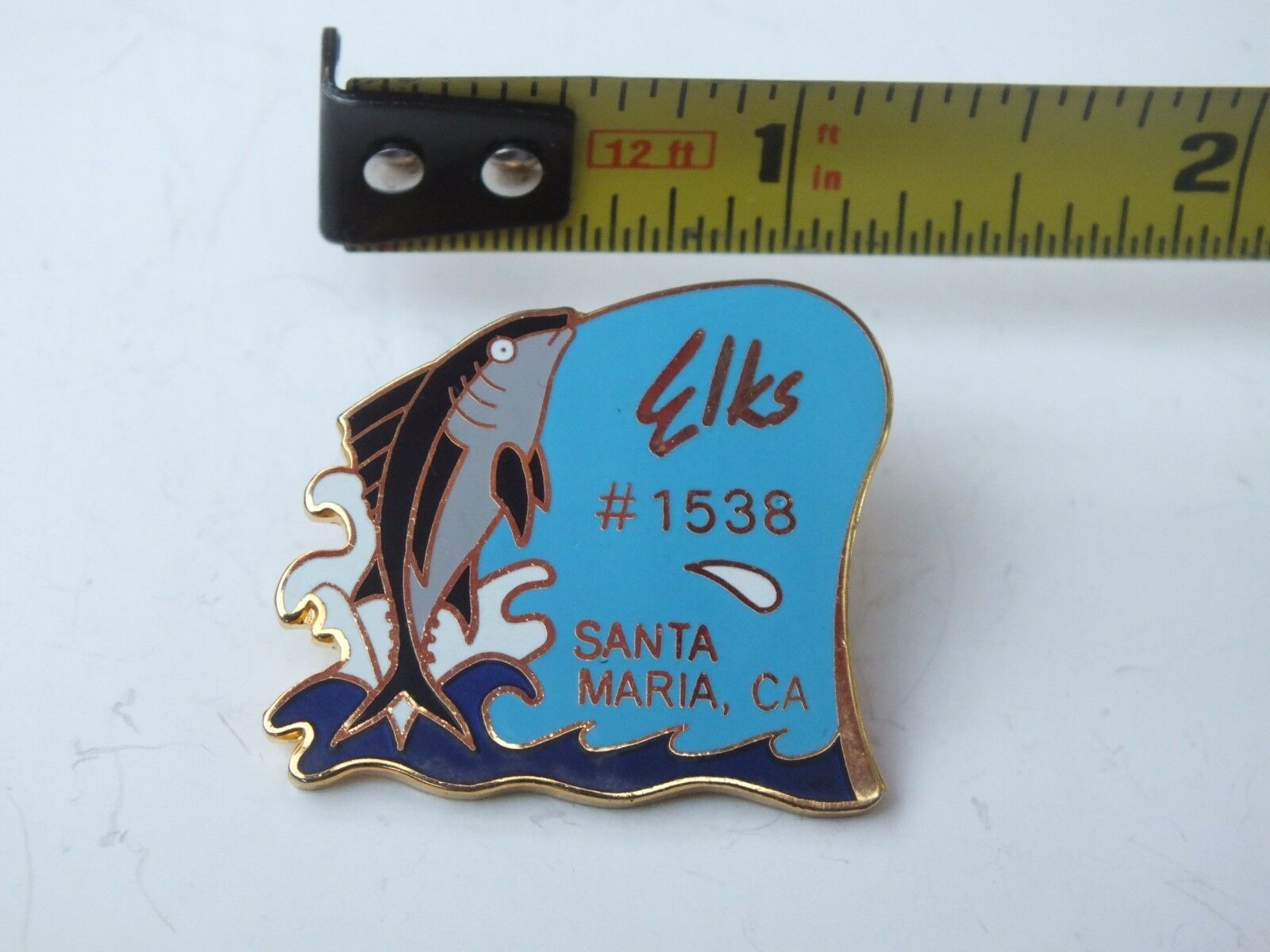 Vintage Elks Santa Maria  CA  Lodge # 1538 lapel pin