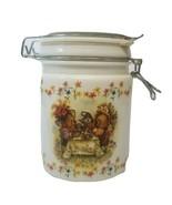 Vintage Hallmark's Houston Harvest Teddy Bear Tea Party Glass Canister - $15.71