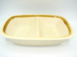 EUC Vintage Mikasa Stone Manor Divided Serving Dish Bowl F5800 Made in J... - $17.86