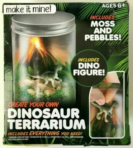 Create Your Own Dinosaur Terrarium Kit - Kids Science Learning Craft Project NEW
