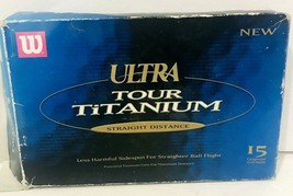 Wilson Ultra Tour Titanium Golf Balls Straight Distance Box of 15 New Opened Box - $19.99