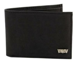 NEW LEVI'S PREMIUM CLASSIC LEATHER BIFOLD ID CREDIT CARD WALLET BLACK 31LV13A7 image 2