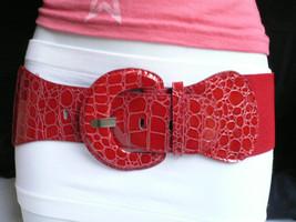 Women Red Fashion Belt Stretch Hip Elastic High Waist Clubbing Plus Size M L Xl - $12.73