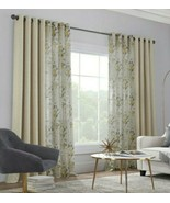 (1) JCPenney Home Caspian Sauterne Gold Yellow Sheer  Grommet Curtain 50... - $68.59