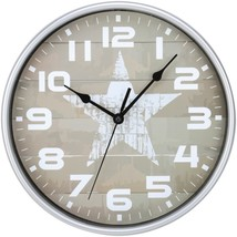 Timekeeper 668012S Star Wall Clock - $28.75