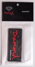 Diamond Supply Co.Schriftzug Schwarz Rot Kühlschrank Magnet Nip