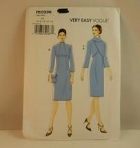 Very Easy Vogue Pattern R10336 Dress Jacket Size 6 8 10 12 14 - $17.77