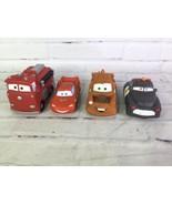 Disney Pixar Cars Mater Lightning McQueen Red Sheriff Rubber Toys Figure... - $29.69