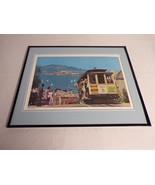 VINTAGE San Francisco Cable Car Framed 16x20 Poster Display - $79.19