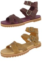 TIMBERLAND SAMPLE WOMEN'S NATOMA X STRAP LEATHER ANKLE STRAP SANDALS US ... - $49.99