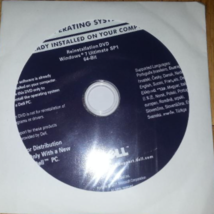DELL REINSTALLATION WINDOWS 7 ULTIMATE 64 BIT SP1 DVD NO KEY WIN 7 ULTIMATE - $14.99