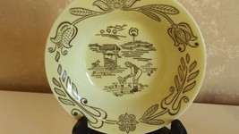 Small Yellow Bowl with Farm Scene Vintage Collectible CL11-7 - $7.99