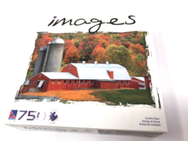 Sure-Lox Images 750 Jigsaw Puzzle COUNTRY BARN Orange & White Silo Fall New - $17.99