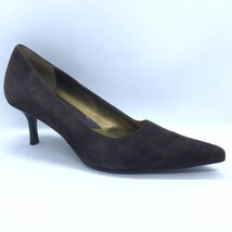 Nine West Heels Women Size 8 Brown Suede Close Toe Shoes - $30.00