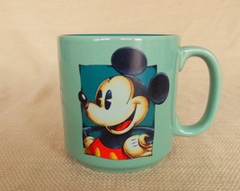 Awesome collectible Mickey Mouse Disney green coffee mug diner style - $18.00