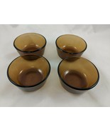 Fire King Anchor Hocking Glass Amber Custard Cup Lot of 4 - $17.23