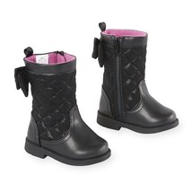 Koala Kids Toddler Girls  Black  Boots Size 5 or 6 Shoes NWT - $314,54 MXN