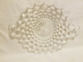 """Fostoria American Clear Cube Glass 9 1/2"""" Tidbit Dish Tray - $29.69"""