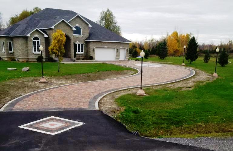 "DIY Driveway Paver 6 Mold Set Makes 100s of Concrete Opus Romano 3"" Thick Pavers"