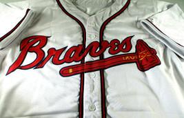 CHIPPER JONES / MLB H.O.F / AUTOGRAPHED ATLANTA BRAVES WHITE CUSTOM JERSEY / JSA image 2
