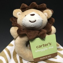 Carters Lion Lovey Snuggle Me Blankie & Rattle Set NuNu Zebra Blanket Ta... - $12.99