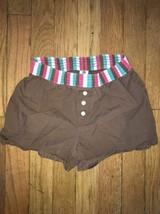 ! gap brown pj pajama shorts bottoms only small girl kids - $4.02