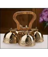 Religious Supply 4-Bell Embossed Brass Altar Bells - $74.20