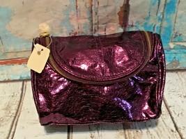 Bath & Body Works Zippered Makeup Cosmetic Bag purple NEW  - $6.79