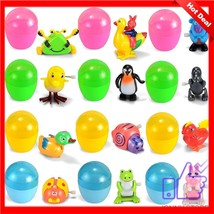 12 Pieces Easter Egg for kid plastic muppet animal crossing wind-up lot ... - $20.78