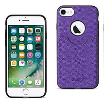 Reiko Wireless iPhone 7 Anti-Slip Texture Protector Cover with Card Slot... - $12.92