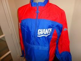 Vtg 90's Apex One New York Giants Sewn Patches NFL Windbreaker Zip Jacket Men M - $43.07