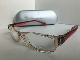 New Faconnable jeans FJ 712 106 Clear Pink 53mm Women's Eyeglasses Frame - $69.99