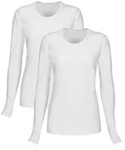 T Flex Womens Long Sleeve T-Shirt 2 Pack, Underscrub Tee Layering Shirt - $19.93