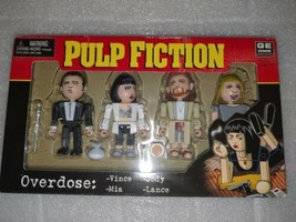 2004 NECA Miramax Pulp Fiction The Cast:  Vince, Jules, Mia, Marsellus NIP - $18.98