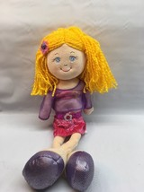"Jordana Plush Doll By Russ Berries 16"" Tall Blonde Yarn Hair M2 - $7.12"